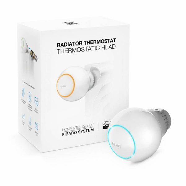 Cabezal termostático FIBARO.
