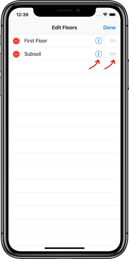 Editar pisos Easy KNX iOS